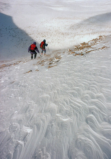 The descent to Coire an Lochain