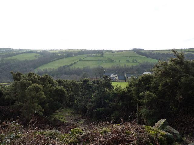 On a path up to Cathole Hill