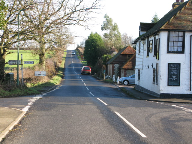 Crossroads on Frith Road, Aldington Frith