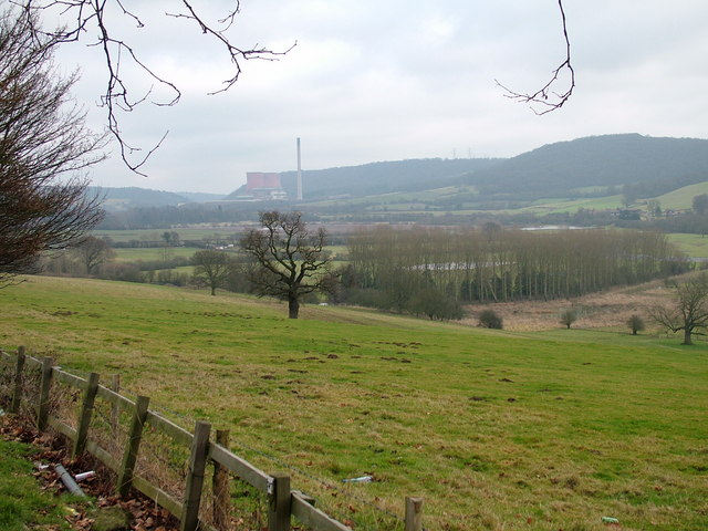 Looking east along the Severn towards Ironbridge Power Station