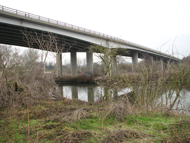The Postwick Viaduct viewed from the south-west