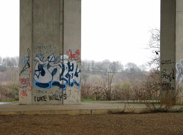 The Postwick Viaduct - graffiti