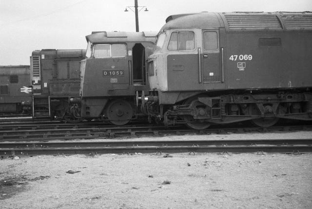 Diesel locomotives at Old Oak Common depot