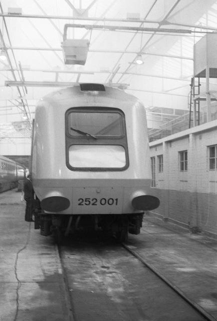 Prototype High Speed Train inside Old Oak Common depot
