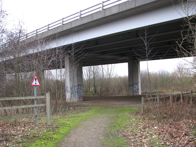 Path leading under Postwick Viaduct