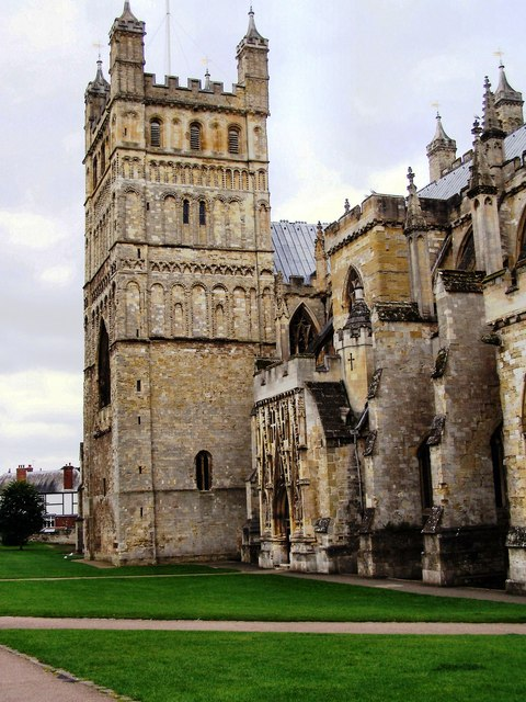 Exeter Cathedral, north front.