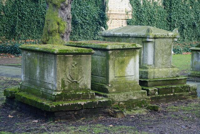 Graves in St.Pancras Old Church Graveyard
