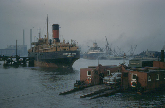 Blyth chain ferry, 1960