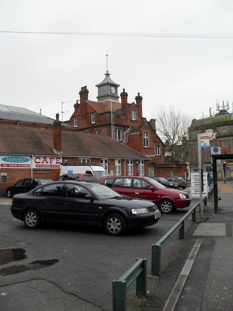 Car parking spaces on the station forecourt at Bognor