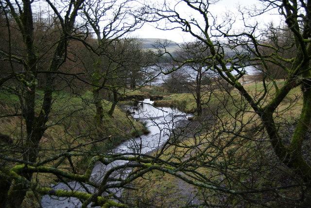 Stream running into Calf Hey Reservoir