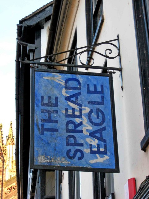 The Spread Eagle sign, 2 King Street