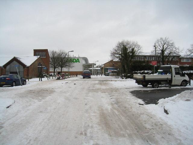 Brighton Hill in the snow