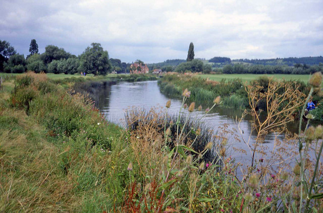 River Avon south of Fladbury