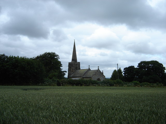 Ganton  Church  across  the  cornfield