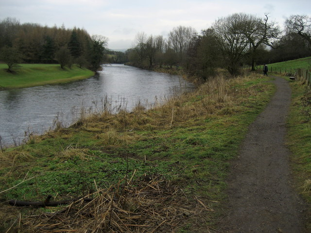 Ribble Way beside the River Ribble