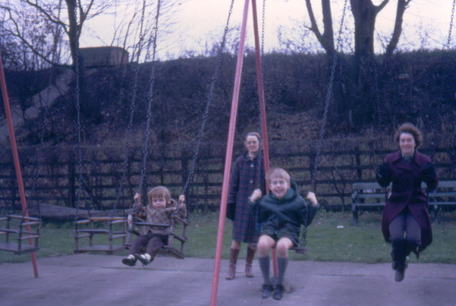 Former swings at Shibden Park