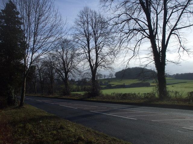 The A48 near Penhow