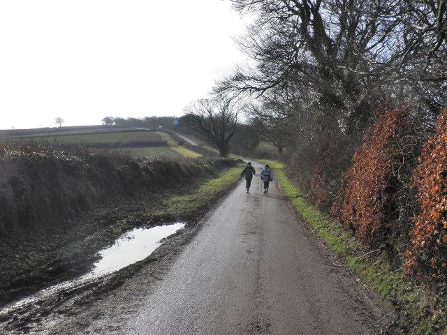 Country Lane, passing Queensborough