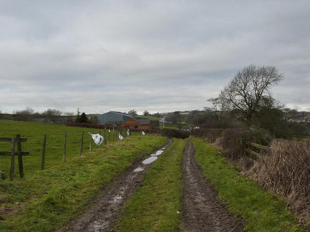 Track to Hallcliff Farm, Wadshelf