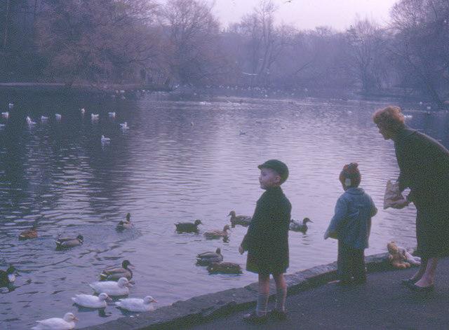 Feeding the ducks in Hesketh Park