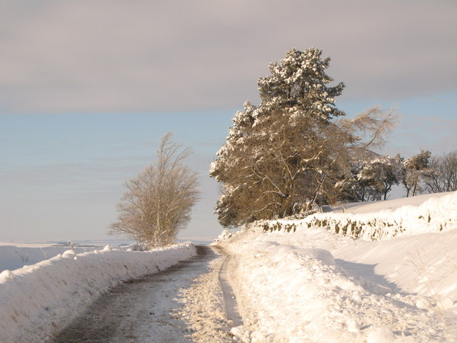 The minor road between Allendale and Sinderhope in the snow (4)