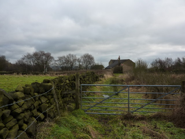 On a footpath at Stone Edge
