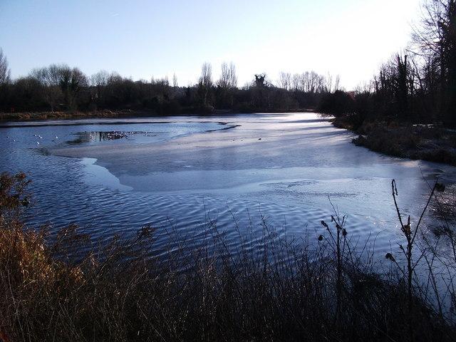 Upper Clatford - Ice On Mill Lake