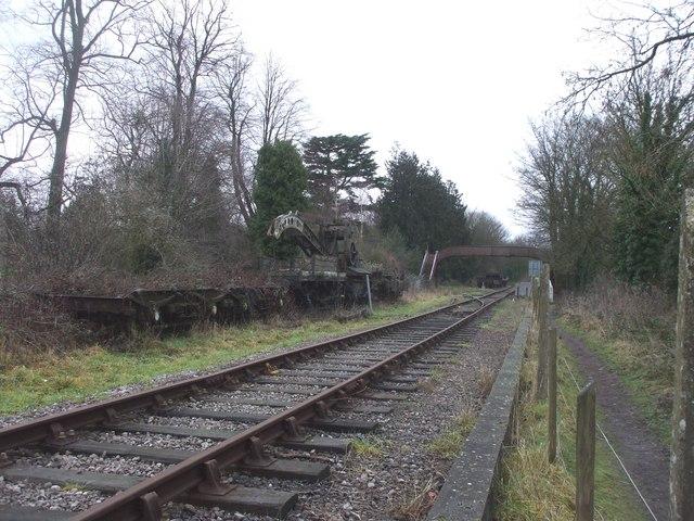 Railway at St Mary's Halt, Lydney