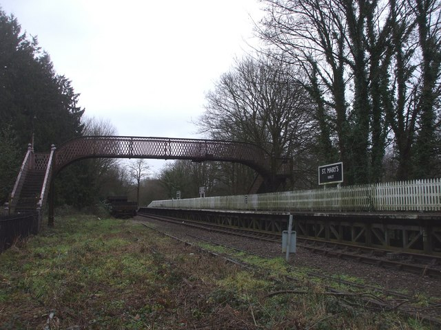 Disused footbridge at St Mary's Halt, Lydney