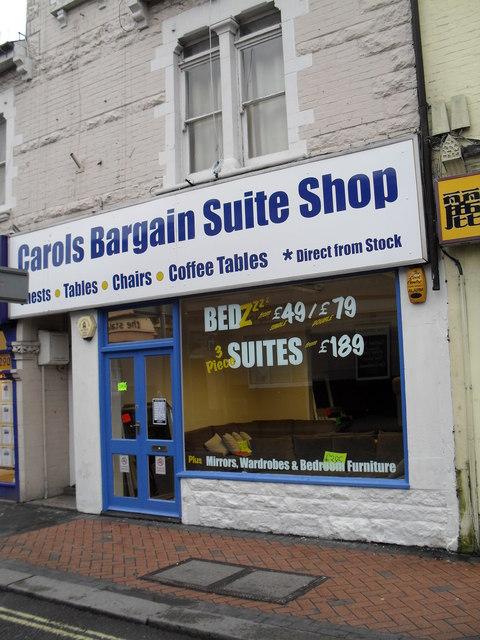Carols Bargain Suite Shop in Station Road