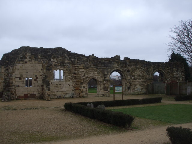 Ruins of St Oswald's Priory, Gloucester