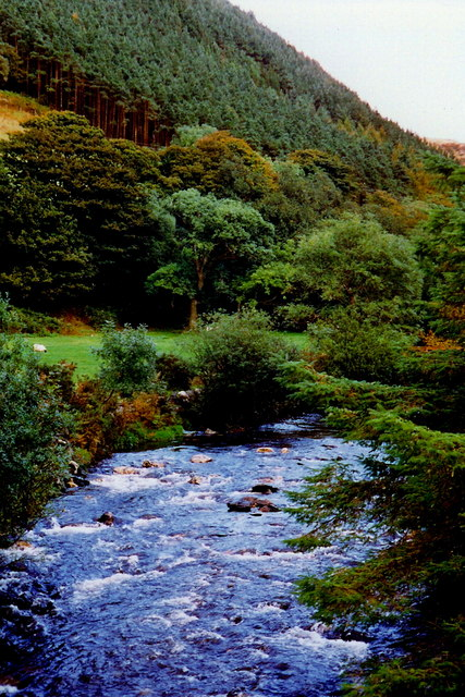 Sulby Glen Road - Sulby River and Carrick hillside
