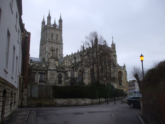 Gloucester Cathedral from St Mary's Gate