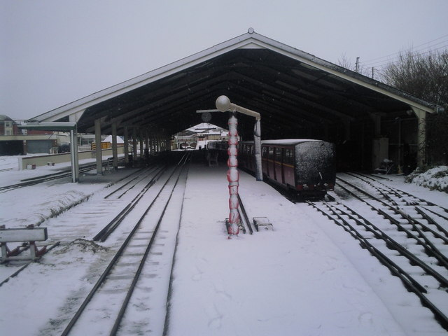 New Romney station in the snow