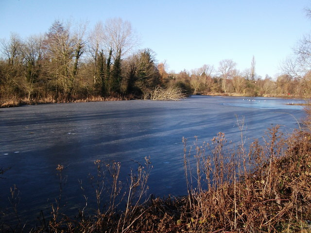 Upper Clatford - Ice On Mill Lake