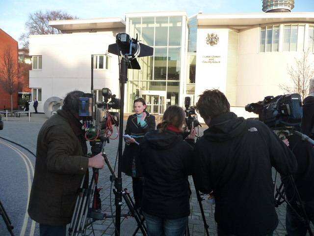 Exeter : TV News Group at Exeter Crown & County Court