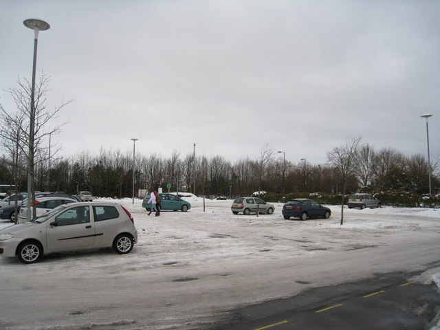 Car park with some snow