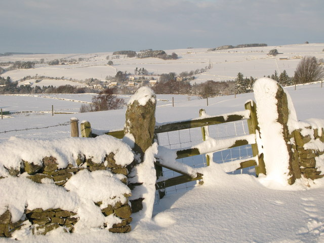 Old field gate in the snow