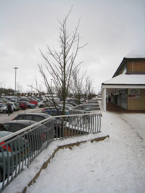 Snow & car park