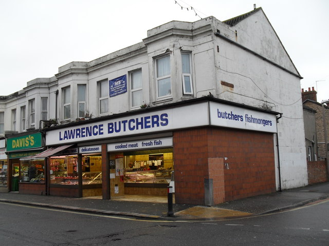 Butchers at the junction of Station and Crescent Roads