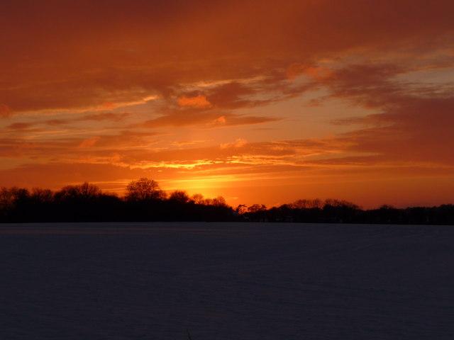 Grateley - Winter Sunset