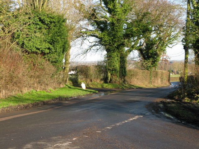 Junction on the Chequertree to Mersham road