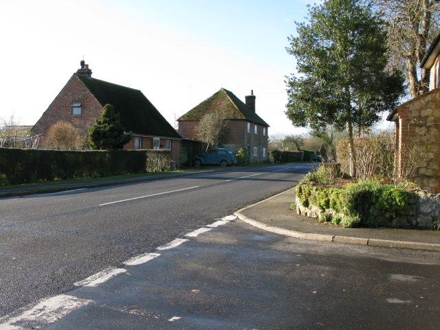 Minor road junction with Frith Road