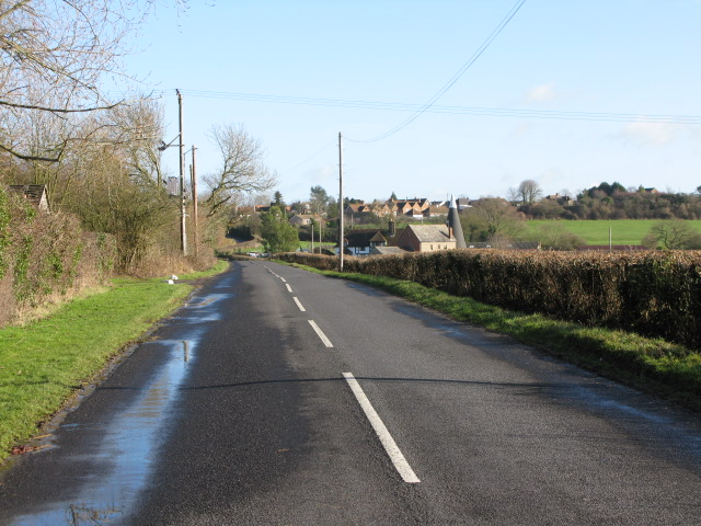 Looking E along Frith Road towards Clap Hill