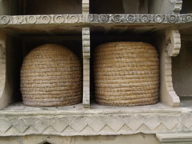 Hartpury church beehives