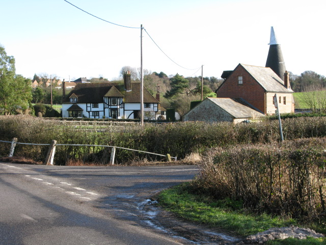 Junction of Dicksons Bourne off Frith Road
