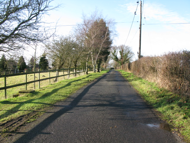 View along Mill Lane