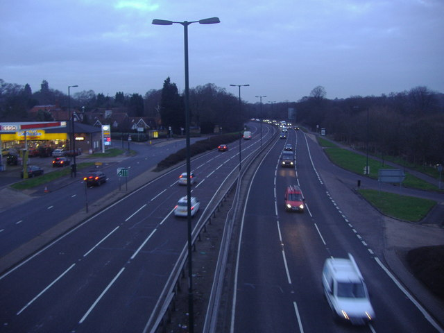 A3 looking north from Coombe Lane flyover