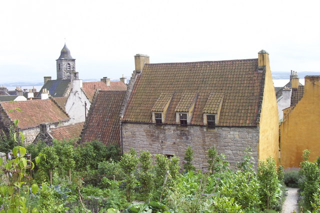 The Palace , Culross, with kitchen garden in foreground
