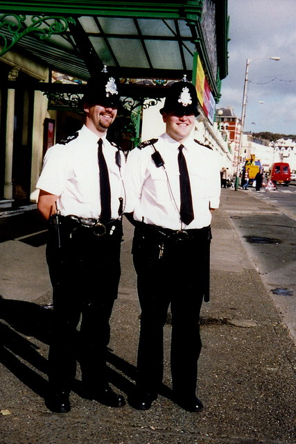 Douglas - Police officers having a good day